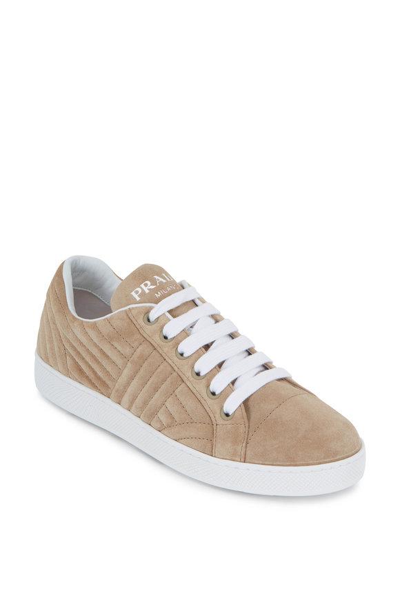 Prada Desert Quilted Suede Sneaker