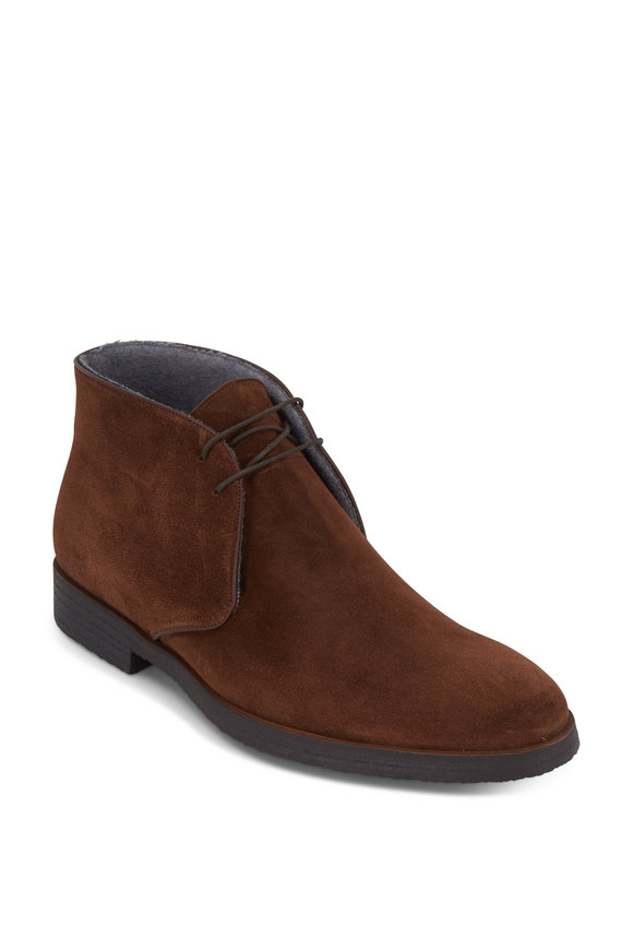 To Boot New York Ivy Chocolate Brown Suede Chukka Boot