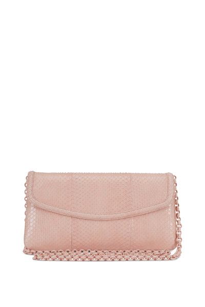 Nancy Gonzalez - Tracy Nude Snakeskin Clutch