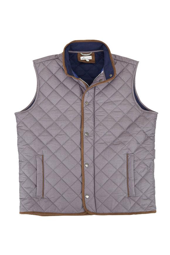 Peter Millar Essex Smoke Gray Quilted Vest