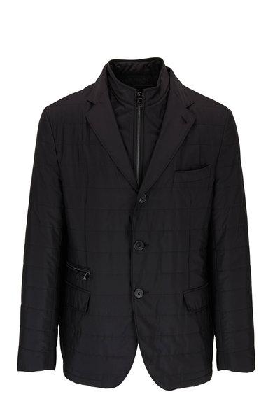 Corneliani - Milestones Black Quilted Dickey Jacket
