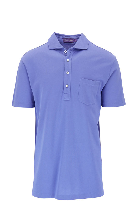 Ralph Lauren Dark Periwinkle Short Sleeve Piqué Polo