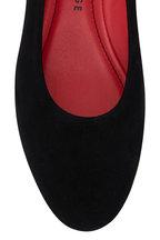 Pas de Rouge - Daria Black Suede Contrast Block Heel Flat