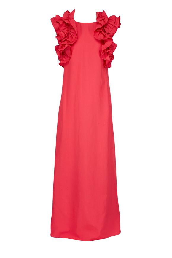CO Collection Azalea Ruffle Sleeve Column Dress