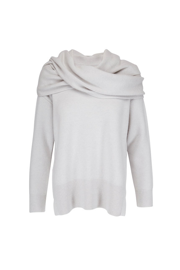 CO Collection Chalk Wool & Cashmere Scarf Sweater