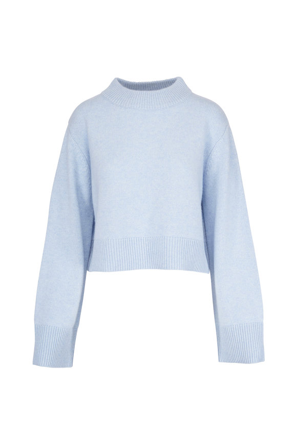 CO Collection Blue Cashmere Boxy Crewneck Sweater