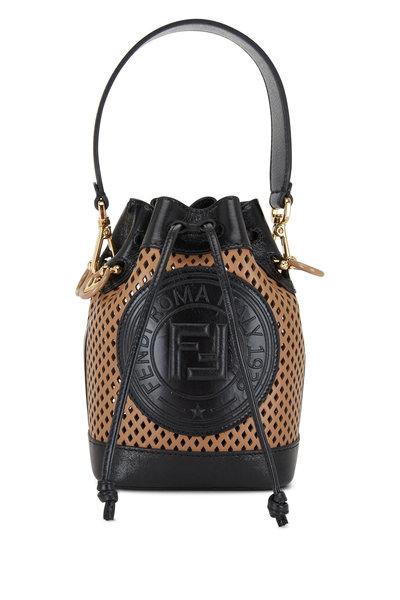 Fendi - Mon Tresor Sand Perforated Leather Mini Bag