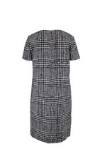 Carolina Herrera - Ivory & Black Houndstooth Short Sleeve Shift Dress