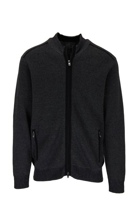 Vanise Black Full Zip Cardigan
