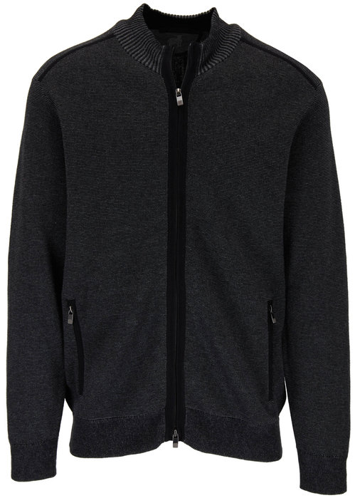 Raffi  Vanise Black Full Zip Cardigan