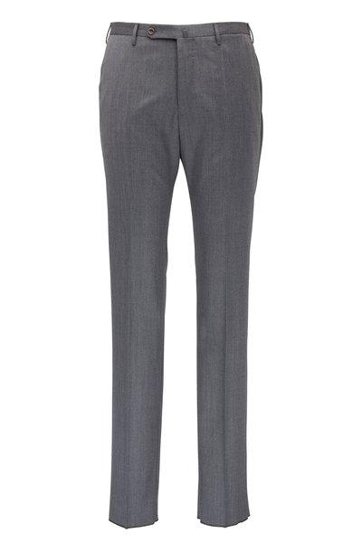 Incotex - Matty Grey Stretch Wool Modern Fit Pant