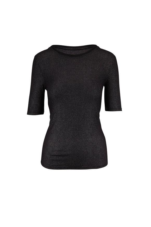 Majestic Metallic Black Extrafine Superwashed T-Shirt