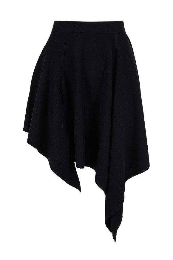 Michael Kors Collection Black Cashmere Asymmetric Skirt