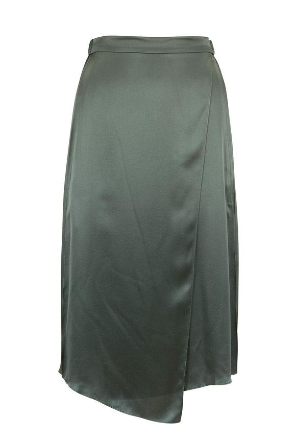 Vince Sage Flint Satin Drape Panel Skirt