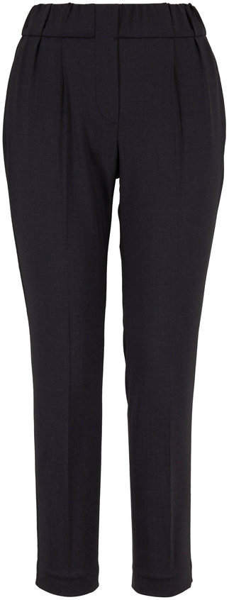 Brunello Cucinelli Anthracite Side Monili Trim Pull-On Pant