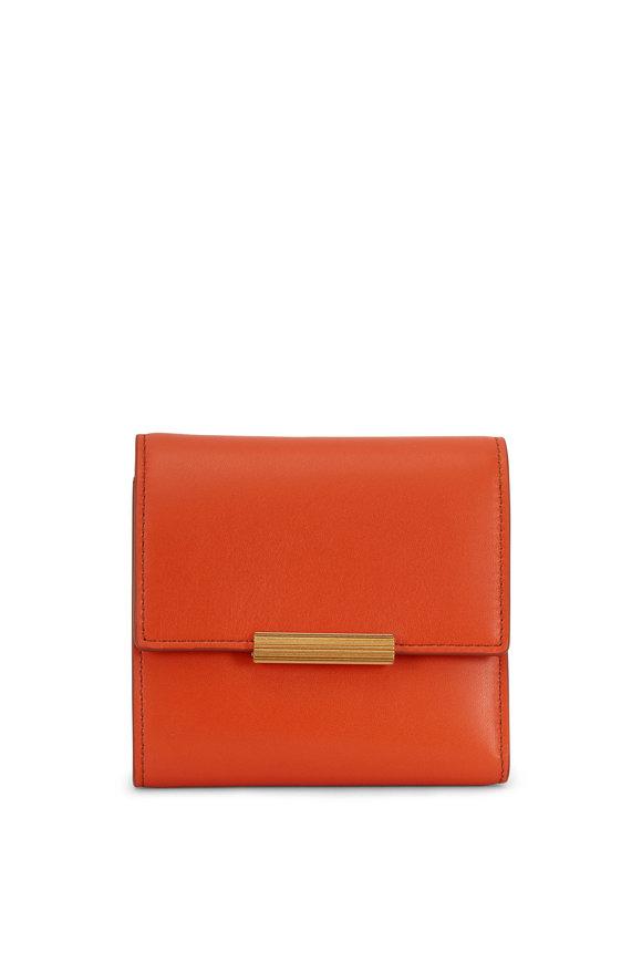 Bottega Veneta Burned Orange Leather Mini Wallet