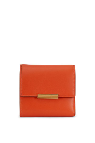 Bottega Veneta - Burned Orange Leather Mini Wallet