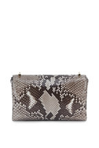 Jimmy Choo - Thea Natural Python Crystal Brooch Small Crossbody
