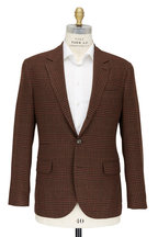 Brunello Cucinelli - Brown & Rust Plaid Wool Blend Sportcoat