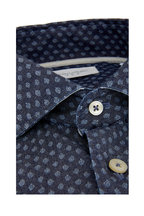 Tintoria - Chambray Leaf Printed Contemporary Sport Shirt