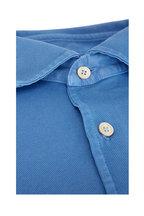 Fedeli - Sky Blue Pique Sport Shirt