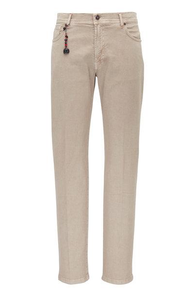 Marco Pescarolo - Beige Cotton & Cashmere Five Pocket Pant