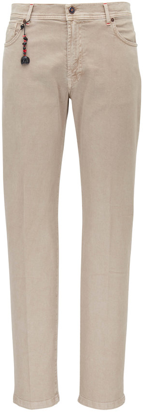 Marco Pescarolo Beige Cotton & Cashmere Five Pocket Pant