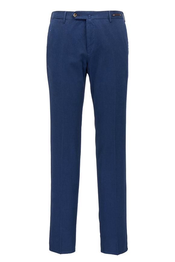 PT Pantaloni Torino Navy Cotton & Cashmere Slim Fit Pant