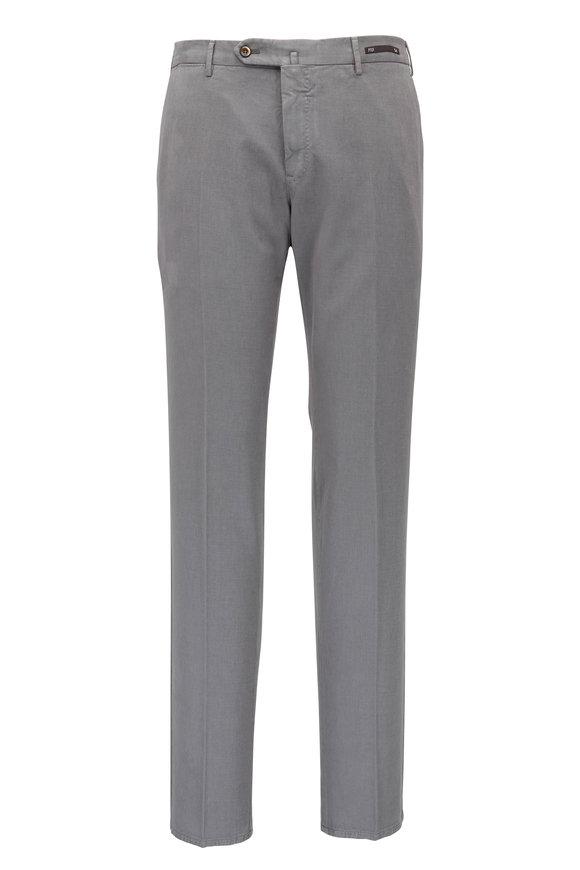 PT Pantaloni Torino Gray Cotton & Cashmere Slim Fit Pant