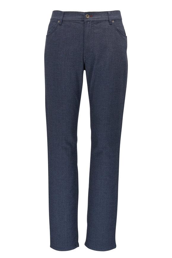 Brax Cooper Fancy Midnight Cotton Five Pocket Pant