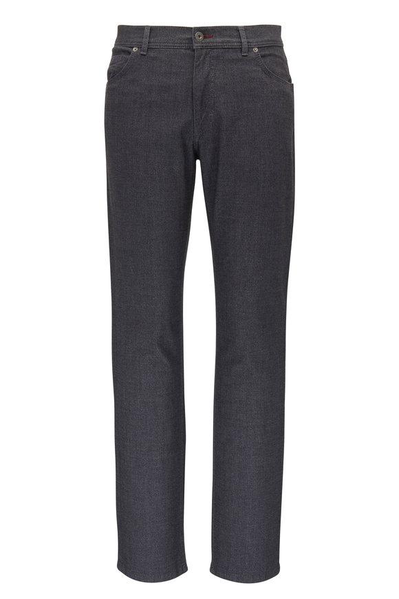 Brax Cooper Fancy Charcoal Cotton Five Pocket Pant