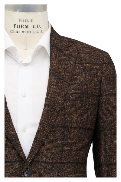 Atelier Munro - Brown Textured Alpaca Blend Sport Coat