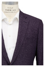 Atelier Munro - Aubergine Herringbone Wool & Silk Sportcoat