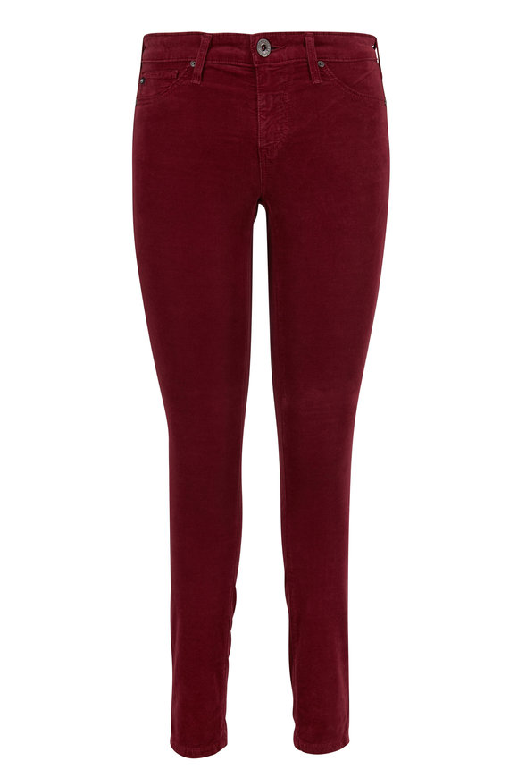 AG - Adriano Goldschmied Berry Corduroy Legging Ankle Jean