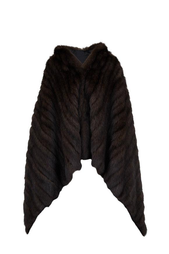 Oscar de la Renta Furs Natural Barguzine Sable Draped Coat