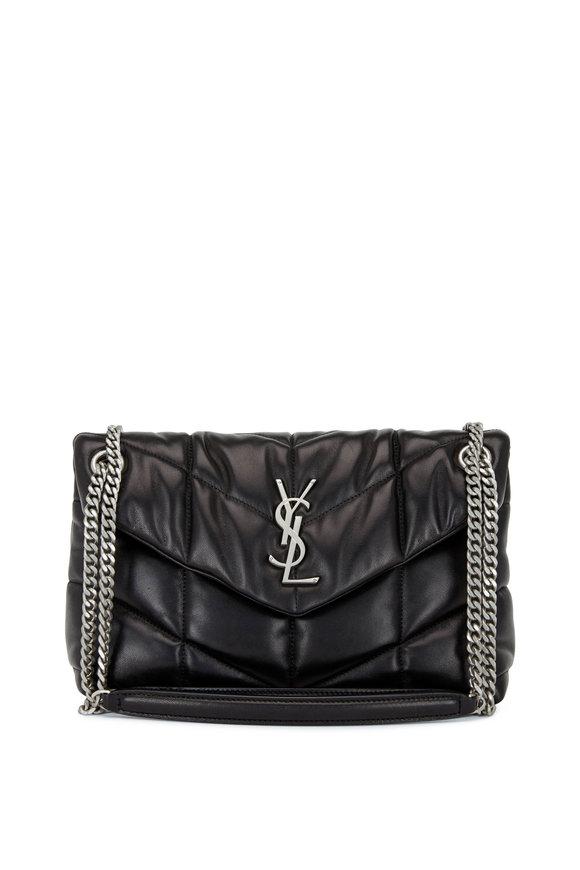 Saint Laurent Loulou Black Quilted Padded Small Shoulder Bag