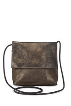 B May Bags - Pyrite Metallic Leather Large Crossbody