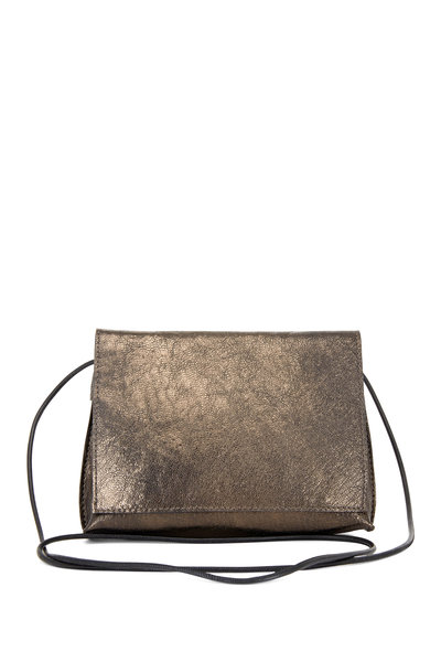 B May Bags - Pyrite Metallic Leather Small Crossbody