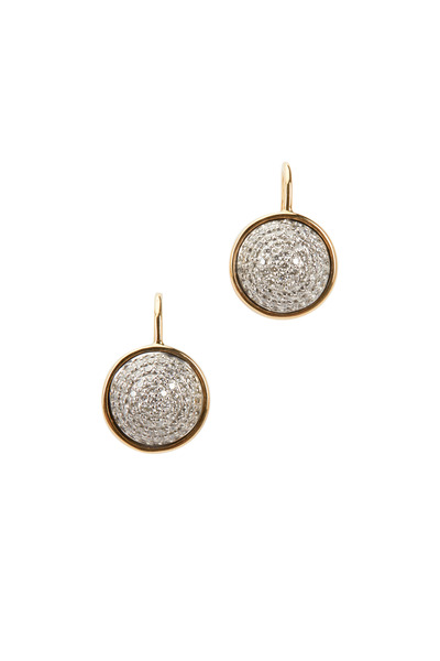 Syna - Baubles Yellow Gold Big Diamond Earrings