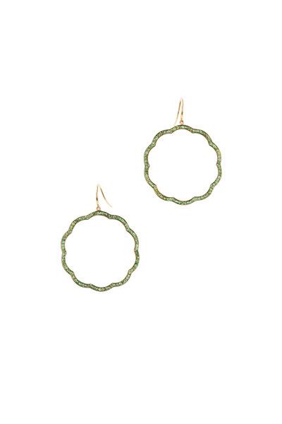 Syna - Mogul Yellow Gold Tsavorite Flower Earrings