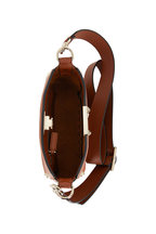 Valentino Garavani - Rockstud Medium Brown Leather Mini Hobo Crossbody