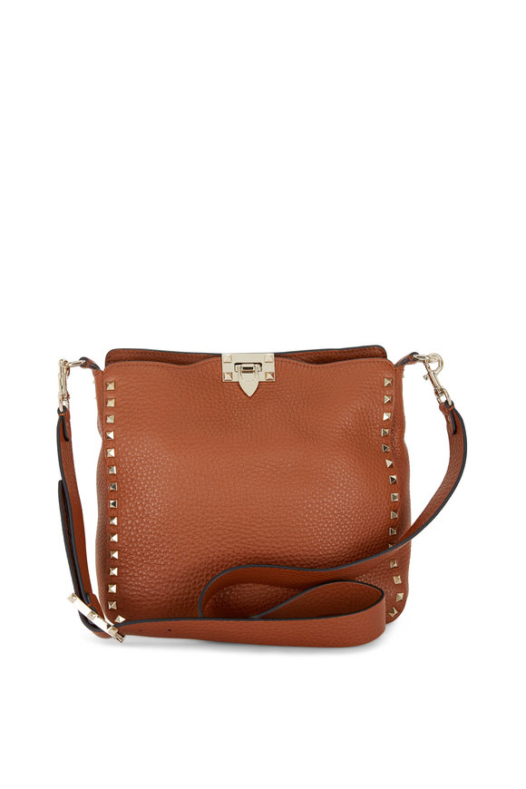 Valentino Garavani Rockstud Selleria Leather Small Hobo Crossbody