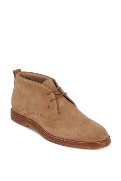 Tod's - Polacco Biscotto Suede Boot