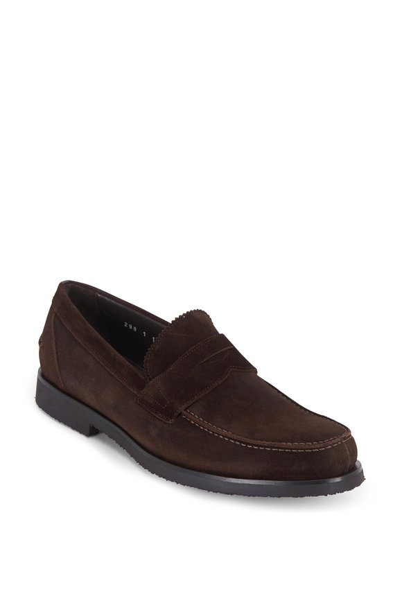 To Boot New York Bakersfield Brown Suede Penny Loafer