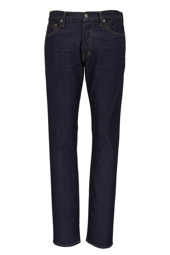 Tom Ford Dark Wash Slim Fit Five Pocket Jean