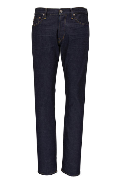 Tom Ford - Dark Wash Slim Fit Five Pocket Jean