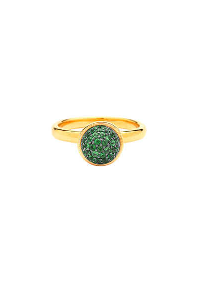Syna - Baubles Yellow Gold Tsavorite Stack Ring