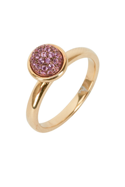 Syna - Baubles Yellow Gold Pink Sapphire Stack Ring
