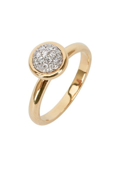 Syna - Baubles Yellow Gold Diamond Stack Ring