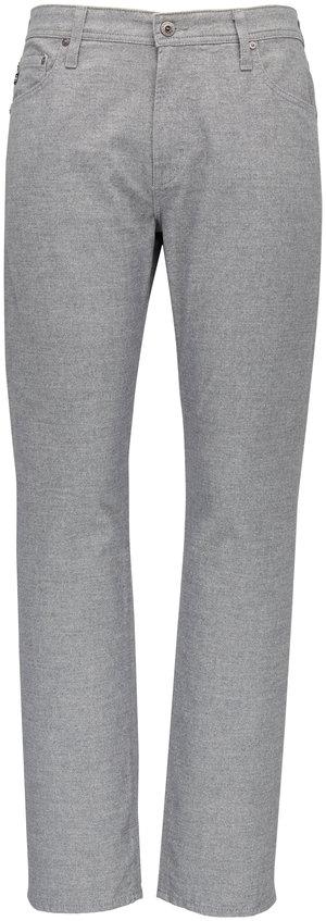 AG - Adriano Goldschmied The Graduate Light Gray Flannel Five Pocket Jean